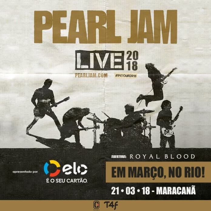 Cartaz Show Pearl Jam Rio de Janeiro