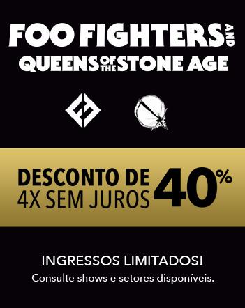 Black Friday de ingressos: promoção para os shows do Foo Fighters e Queens of the Stone Age no Brasil