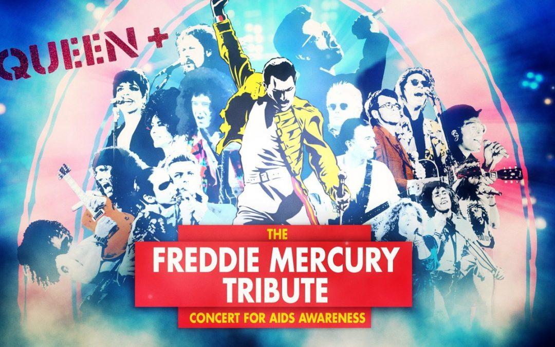 Queen anuncia transmissão de show histórico para esta Sexta, dia 15 de Maio….Show foi realizado em 1992 em homenagem a Freddie Mercury